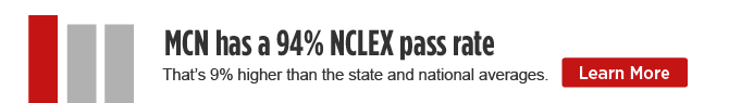 MCN has a 94% NCLEX pass rate