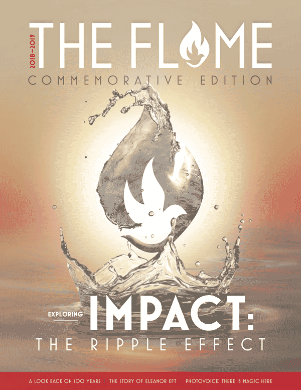 Cover art for the 2019 Flame magazine