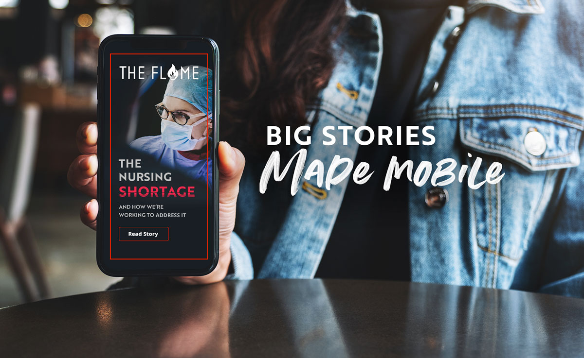 2020 issue of Flame magazine